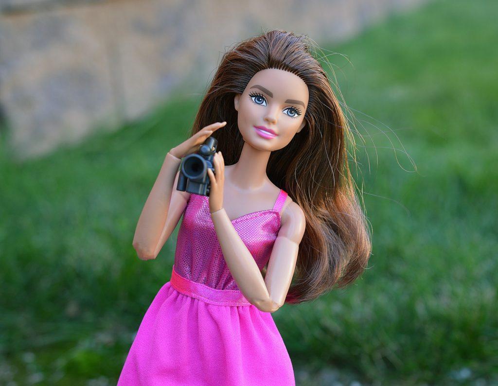 barbie with camera