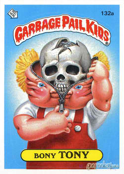 Bony Tony Garbage Pail Kid Card