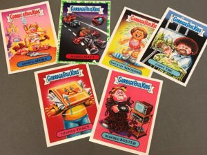 Assorted GPK Cards on a desk