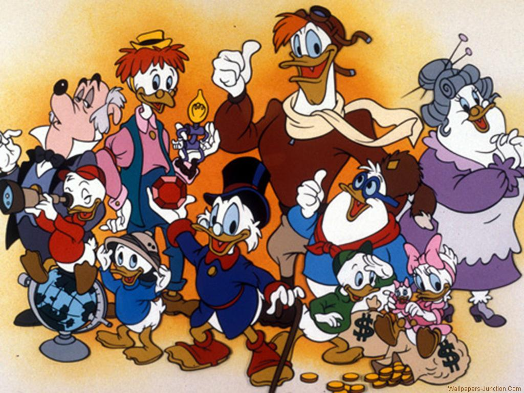 The DuckTales family group photo