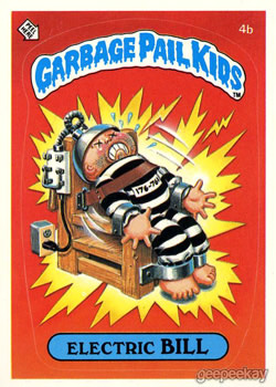 Collection of 40 second edition garbage pail kids with A and B alternat names.